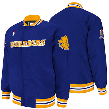Mitchell & Ness Golden State Warriors Authentic Vintage Warm-Up Jacket - Royal Blue
