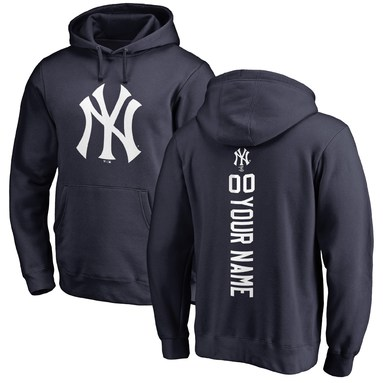 New York Yankees Fanatics Branded Personalized Playmaker Pullover Hoodie - Navy