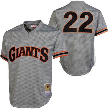 Mitchell & Ness Will Clark San Francisco Giants 1989 Authentic Cooperstown Collection Batting Practice Jersey - Gray