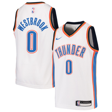 Russell Westbrook Oklahoma City Thunder Nike Youth Swingman Jersey - White