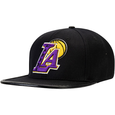 Los Angeles Lakers Pro Standard Blended Logo Adjustable Hat – Black