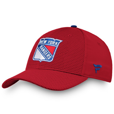 New York Rangers Fanatics Branded Authentic Pro Rinkside Flex Hat - Red
