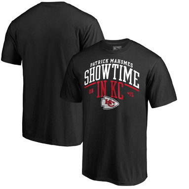 Patrick Mahomes Kansas City Chiefs NFL Pro Line by Fanatics Branded Big & Tall Showtime in KC T-Shirt – Black