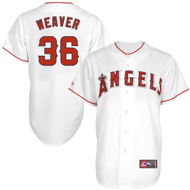 Jered Weaver Los Angeles Angels of Anaheim Majestic Replica Player Baseball Jersey - White