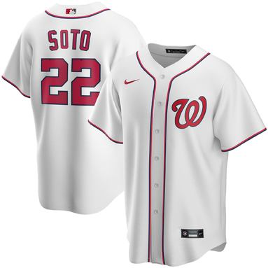Juan Soto Washington Nationals Nike Home 2020 Replica Player Jersey – White