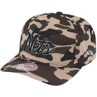 Brooklyn Nets Mitchell & Ness Duck Special 110 Flex Snapback Adjustable Hat – Camo