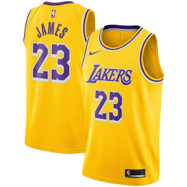 LeBron James Los Angeles Lakers Nike Youth 2018/19 Swingman Jersey Gold - Icon Edition