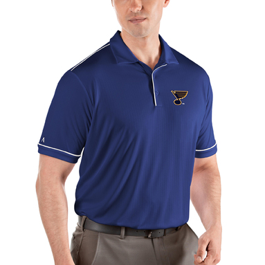 St. Louis Blues Antigua Salute Polo - Royal/White