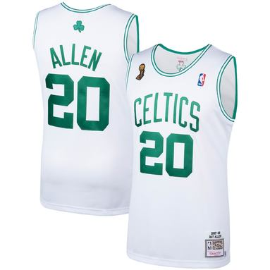 Ray Allen Boston Celtics Mitchell & Ness 2007-08 Hardwood Classics Authentic Player Jersey – White