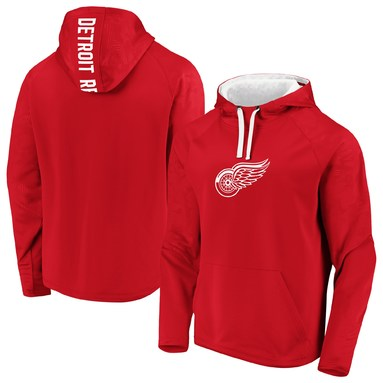 Detroit Red Wings Fanatics Branded Monochrome Raglan Pullover Hoodie - Red