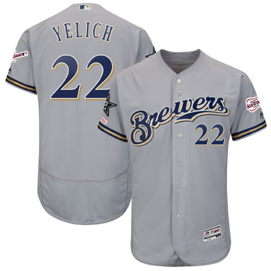 Christian Yelich Milwaukee Brewers Majestic 2019 MLB All-Star Game Authentic Collection Flex Base Player Jersey – Gray
