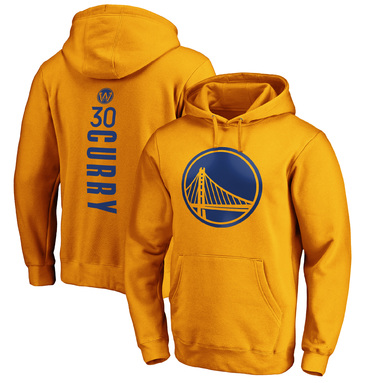 Stephen Curry Golden State Warriors Fanatics Branded Playmaker Name & Number Pullover Hoodie - Gold