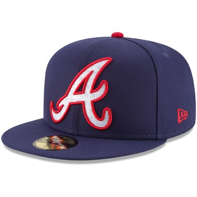 Atlanta Braves New Era Patriotic Turn 59FIFTY Fitted Hat - Navy