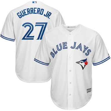 Vladimir Guerrero Jr. Toronto Blue Jays Majestic Youth Home Official Cool Base Player Jersey – White