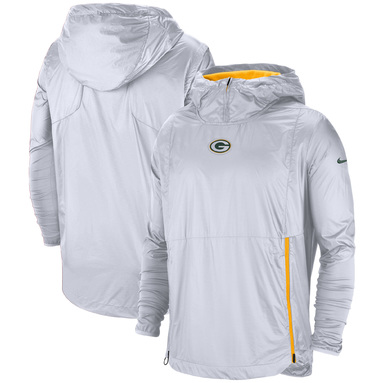 Green Bay Packers Nike Sideline Alpha Fly Rush Pullover Jacket – White