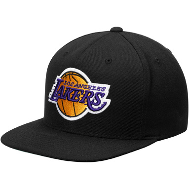 Los Angeles Lakers Mitchell & Ness Current Logo Wool Solid Snapback Adjustable Hat - Black