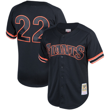 Will Clark San Francisco Giants Mitchell & Ness Fashion Cooperstown Collection Mesh Batting Practice Jersey - Black
