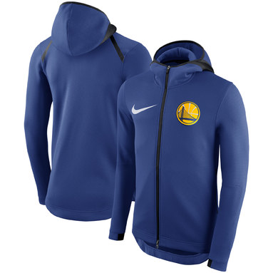 Golden State Warriors Nike Showtime Therma Flex Performance Full-Zip Hoodie – Royal
