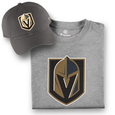 Vegas Golden Knights Fanatics Branded T-Shirt and Hat Bundle - Gray/Gray