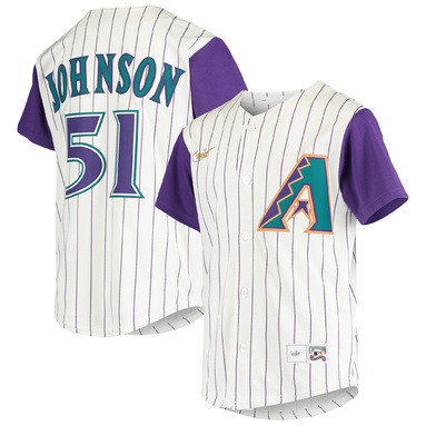 Randy Johnson Arizona Diamondbacks Nike Youth Alternate Cooperstown Collection Player Jersey – Cream