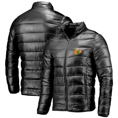 Chicago Blackhawks Fanatics Branded Polyester Puffer Jacket - Black