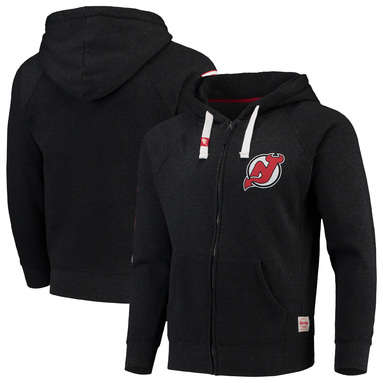 New Jersey Devils Sportiqe Turnpike Thornton Full-Zip Raglan Hoodie - Heathered Charcoal