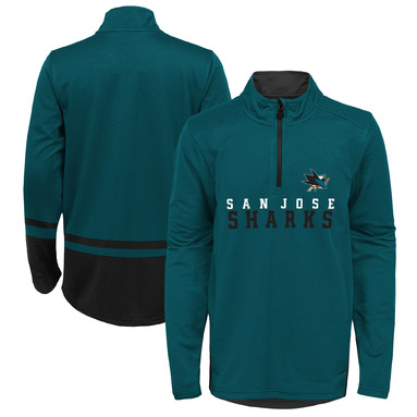 San Jose Sharks Youth Benchmark Performance Quarter-Zip Pullover Jacket - Teal