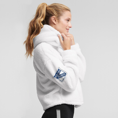 New York Rangers DKNY Sport Women's Cozy Pullover Hoodie - White