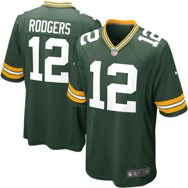 Aaron Rodgers Green Bay Packers Nike Game Jersey - Green фотография