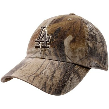 '47 Brand Los Angeles Dodgers Real Tree Camo Franchise Fitted Hat