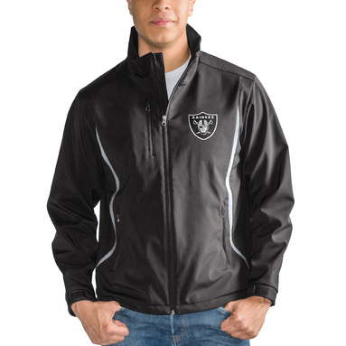 Oakland Raiders G-III Sports by Carl Banks Soft Shell Bonded Full Zip Jacket – Black