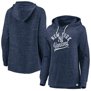 New York Yankees Fanatics Branded Women's Faded Script Pullover Hoodie – Navy