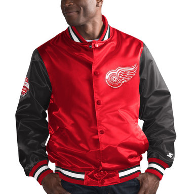 Detroit Red Wings Starter Rookie Full-Snap Jacket – Red/Black