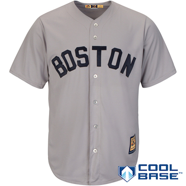 Boston Red Sox Majestic Cooperstown Cool Base Team Jersey - Gray