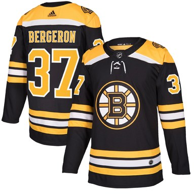 Patrice Bergeron Boston Bruins adidas Authentic Player Jersey - Black