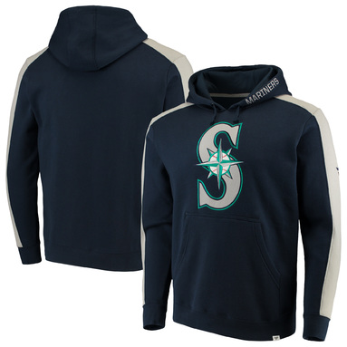 Seattle Mariners Fanatics Branded Iconic Fleece Pullover Hoodie - Navy/Gray