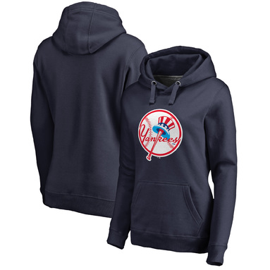 New York Yankees Fanatics Branded Women's Cooperstown Collection Forbes Pullover Hoodie – Navy