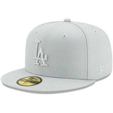 Los Angeles Dodgers New Era Spring Color Basic 59FIFTY Fitted Hat – Gray