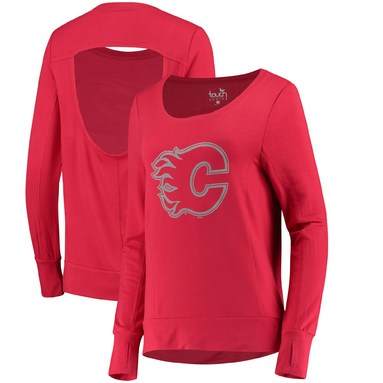 Calgary Flames Touch by Alyssa Milano Women's Lateral Sweatshirt - Red