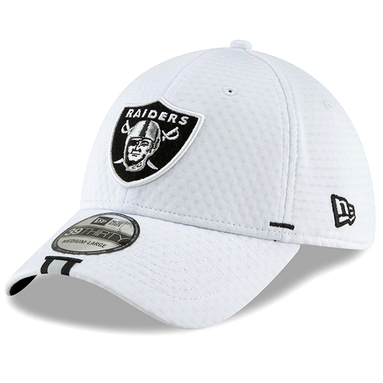 Oakland Raiders New Era 2019 NFL Training Camp Official 39THIRTY Flex Hat – White