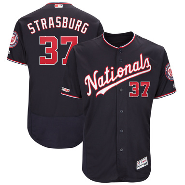 Stephen Strasburg Washington Nationals Majestic Alternate Authentic Collection Flex Base Player Jersey – Navy