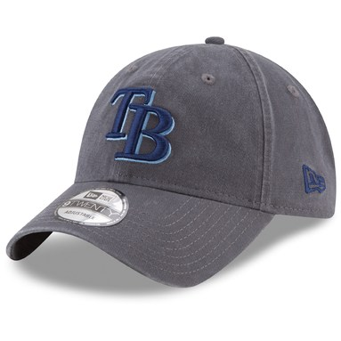 Tampa Bay Rays New Era Primary Logo Core Classic 9TWENTY Adjustable Hat - Graphite