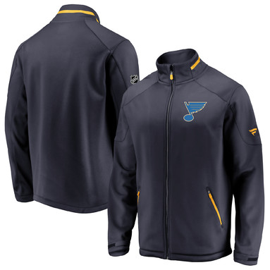St. Louis Blues Fanatics Branded Authentic Pro Rinkside Full-Zip Jacket – Navy