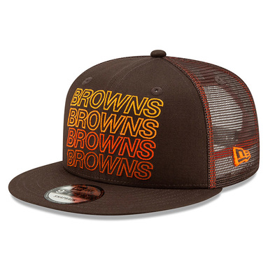 Cleveland Browns New Era Team Repeated 9FIFTY Snapback Adjustable Hat – Brown
