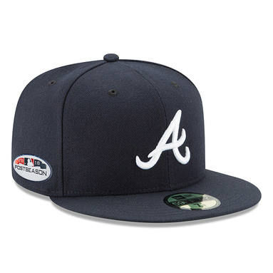 Atlanta Braves New Era 2018 Postseason Side Patch Road 59FIFTY Fitted Hat – Navy