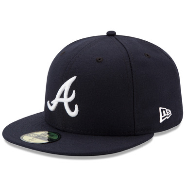 Atlanta Braves New Era Road Authentic Collection On Field 59FIFTY Performance Fitted Hat - Navy