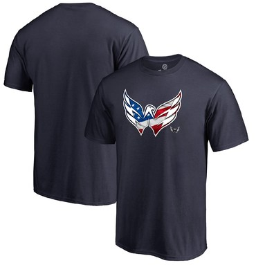 Washington Capitals Fanatics Branded Banner Wave T-Shirt - Navy