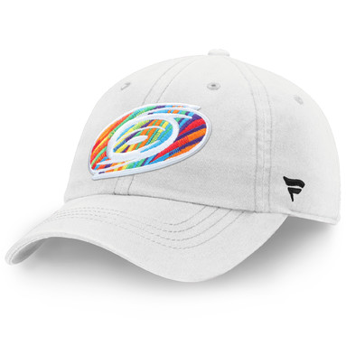 Carolina Hurricanes Fanatics Branded Pride Adjustable Hat – White