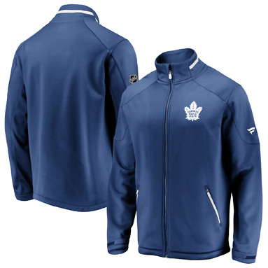 Toronto Maple Leafs Fanatics Branded Authentic Pro Rinkside Full-Zip Jacket – Blue
