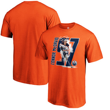 Connor McDavid Edmonton Oilers Fanatics Branded Player Hometown - T-Shirt - Orange